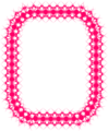 Free Stock Photo: Illustration of a pink blank frame border