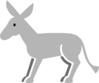 Free Stock Photo: Illustration of a gray donkey