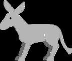 Free Stock Photo: Illustration of a gray donkey