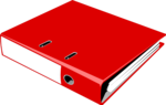 Free Stock Photo: Illustration of a red notebook binder