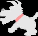 Free Stock Photo: Illustration of a gray cartoon dog