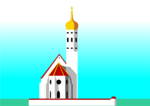 Free Stock Photo: Illustration of a white church