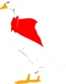 Free Stock Photo: Illustration of a goose with a red bow