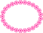Free Stock Photo: Illustration of a blank frame border of pink shapes