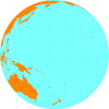 Free Stock Photo: Illustration of a globe showing the Pacific Ocean