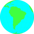 Free Stock Photo: Illustration of a globe showing South America