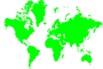 Free Stock Photo: Illustration of a green map of the world