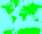 Free Stock Photo: Illustration of a map of the world