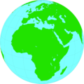 Free Stock Photo: Illustration of a globe showing Africa