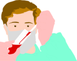 Free Stock Photo: Illustration of a lab technician with a vial of blood