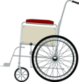 Free Stock Photo: Illustration of a wheelchair