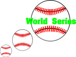 Free Stock Photo: Illustration of baseballs and World Series text