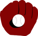 Free Stock Photo: Illustration of a baseball in a baseball mitt
