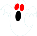 Free Stock Photo: Illustration of a red eyed ghost