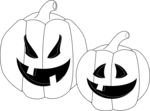 Free Stock Photo: Illustration of two jack-o-lanterns