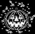 Free Stock Photo: Illustration of a jack-o-lantern and confetti