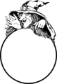 Free Stock Photo: Illustration of a witch and a crystal ball