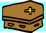 Free Stock Photo: Illustration of a coffin