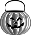 Free Stock Photo: Illustration of a jack-o-lantern candy holder