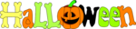 Free Stock Photo: Illustration of halloween text with a jack-o-lantern