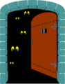Free Stock Photo: Illustration of a spooky door opening