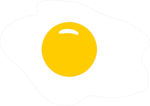 Free Stock Photo: Illustration of an egg cooked sunny side up