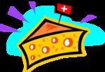 Free Stock Photo: Illustration of swiss cheese