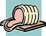 Free Stock Photo: Illustration of a sliced ham