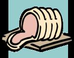 Free Stock Photo: Illustration of a sliced ham