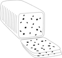 Free Stock Photo: Illustration of a sliced block of cheese