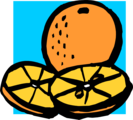 Free Stock Photo: Illustration of an orange and orange slices