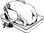Free Stock Photo: Illustration of a turkey cooking in a pan