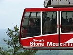 Free Stock Photo: A red cable car at Stone Mountain in Georgia.