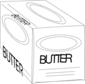 Free Stock Photo: Illustration of a box of butter
