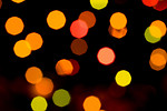 Free Stock Photo: Abstract colored lights on a black background