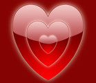 Free Stock Photo: Illustration of a red heart on a red background