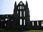 Free Stock Photo: Silhouette of Whitby abbey in North Yorkshire