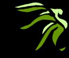 Free Stock Photo: Illustration of an upper right frame corner of green leaves