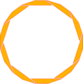 Free Stock Photo: Illustration of a blank orange circular frame