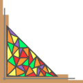 Free Stock Photo: Illustration of a lower left stained glass frame corner