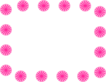 Free Stock Photo: Illustration of a blank frame border of pink circle shapes