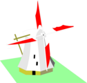 Free Stock Photo: Illustration of a windmill