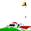Free Stock Photo: Illustration of a lighthouse and small buildings