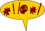 Free Stock Photo: Illustration of a yellow cartoon balloon with curse text