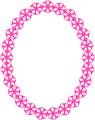 Free Stock Photo: Illustration of a blank frame border with pink shapes