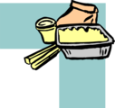 Free Stock Photo: Illustration of an upper right frame corner with takeout food