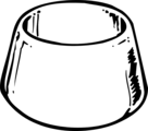 Free Stock Photo: Illustration of a pet water bowl