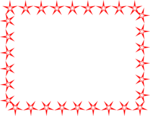 Free Stock Photo: Illustration of a blank frame border of red stars