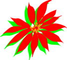 Free Stock Photo: Illustration of a red poinsettia flower