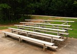 Free Stock Photo: A small set of bleachers in a park